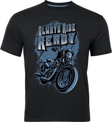 Graphic6 Graphic Print Men's Round Neck Black T-Shirt