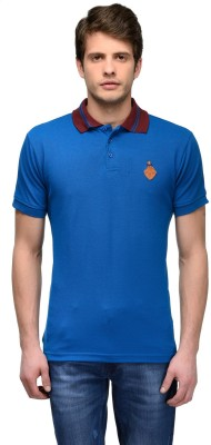 Canary London Solid Men's Polo Dark Blue T-Shirt