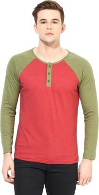 Yellow Submarine Solid Men,s Round Neck Red T-Shirt