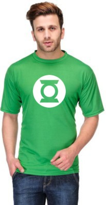 ANDSHAND Printed Men,s Round Neck Reversible Green T-Shirt