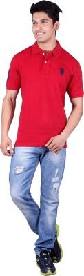 Jura Polo Solid Men's Polo Neck Maroon T-Shirt