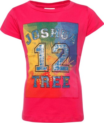 Joshua Tree Printed Girl's Round Neck T-Shirt