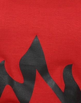 JSR Printed Women's V-neck Red, Yellow T-Shirt