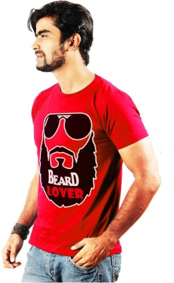 Shopping Monster Printed Men's Round Neck Red T-Shirt