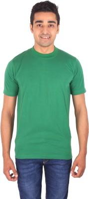 DG Solid Men's Round Neck Green T-Shirt