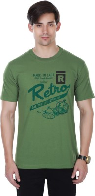 Cotton County Premium Printed Men's Round Neck Green T-Shirt