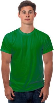 99Tshirts Solid Men's Round Neck Green T-Shirt