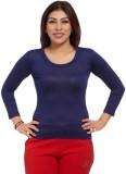 Comix Solid Women's Round Neck Purple T-...
