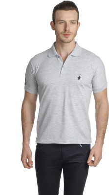 Green Wich United Polo Club Solid Men's Polo Grey T-Shirt