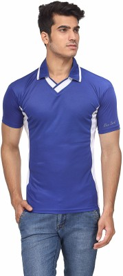 Rico Sordi Solid Men's Polo Neck Blue T-Shirt