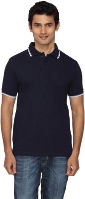 Scottish Solid Men's Polo Dark Blue, White T-Shirt