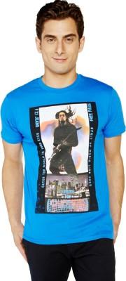 Globus Printed Men's Round Neck Blue T-Shirt