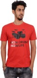 Indrow Printed Men's Round Neck Red T-Sh...