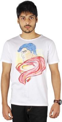 Palmtint Printed Men's Round Neck White T-Shirt