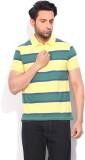 Van Heusen Striped Men's Polo Neck Yello...