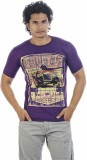 Shapers Printed Men's Round Neck Purple ...