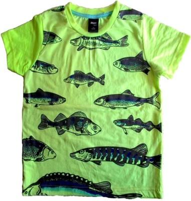 Cool Club Printed Boy's Round Neck Green T-Shirt