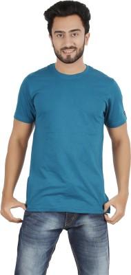 Ocean Race Solid Men,s Round Neck Blue T-Shirt