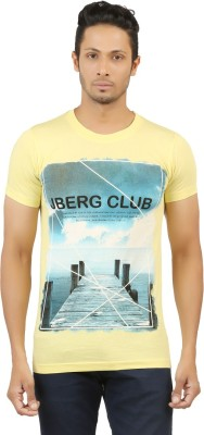 LEVELS Printed Men's Round Neck Yellow T-Shirt
