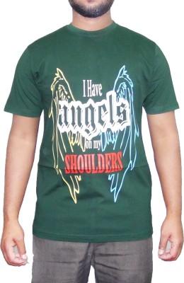pious fashion club Printed Men,s, Boy's Round Neck Green T-Shirt