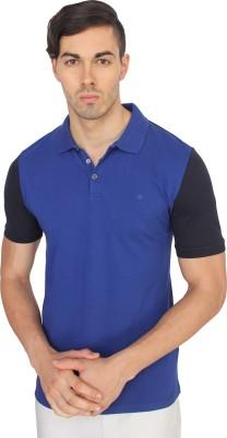 Calvin Klein Solid Men's Polo Neck Dark Blue T-Shirt