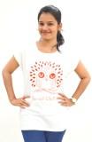 VINKED Printed Women's Round Neck White ...