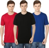 Club Vintage Solid Men's Round Neck Blac...
