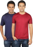 Quetzal Solid Men's Round Neck Blue, Mar...