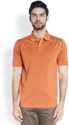 ColorPlus Solid Men's Polo Neck Orange T-Shirt