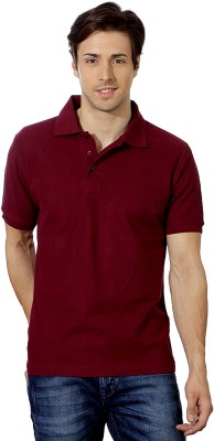 Top Notch Solid Men's Polo Maroon T-Shirt