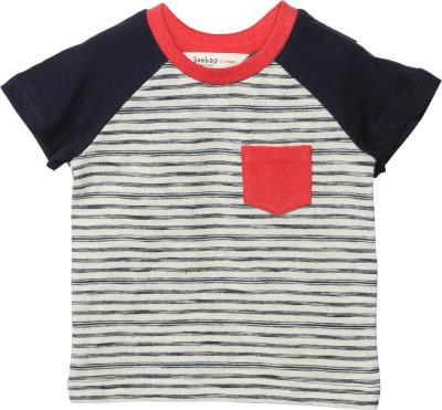 Beebay Striped Boy's Round Neck T-Shirt