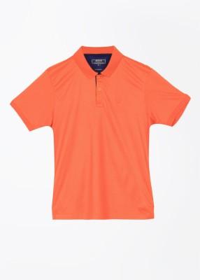 Arrow Sport Solid Men's Polo Orange T-Shirt