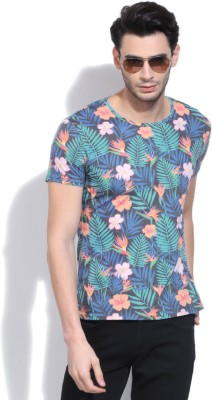 United Colors of Benetton Printed Men's Round Neck Multicolor T-Shirt