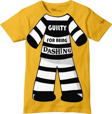 Grasshopr Graphic Print Baby Boy's Round Neck Orange T-Shirt