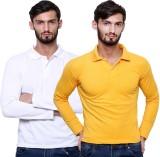 Grand Bear Solid Men's Polo Neck Yellow,...