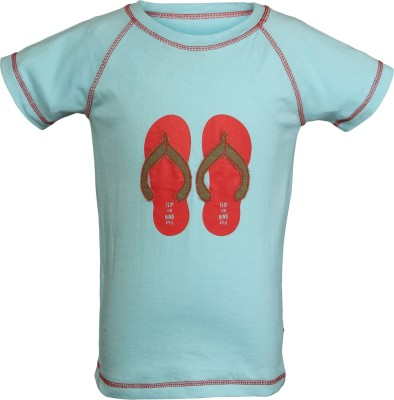 Nino Bambino Embroidered Boy's Round Neck Blue T-Shirt