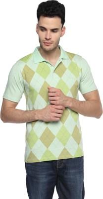 Swing9 Printed Men's Polo Neck Light Green T-Shirt