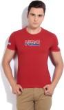 GAS Printed Men's Round Neck Red T-Shirt