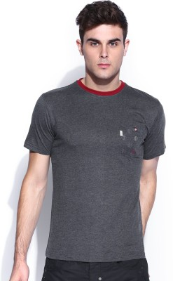 883 Police Graphic Print Men's Round Neck Blue T-Shirt