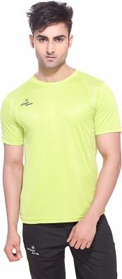 Sport Sun Solid Men's Round Neck Green T-Shirt