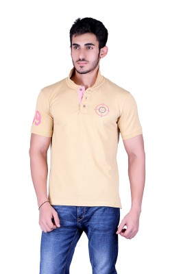 Counter Solid Men's Polo Neck T-Shirt