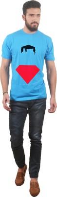Abuse Printed Men's Round Neck Light Blue T-Shirt