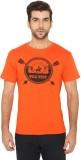 Imagica Printed Men's Round Neck Orange ...
