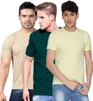 Cool Club Solid Men's Round Neck Multicolor T-Shirt