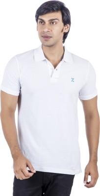 X-Tint Solid Men's Polo Neck White T-Shirt
