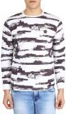 Easies Striped Men's Round Neck White T-...