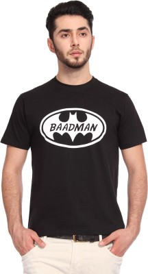 Knotees Printed Men's Round Neck Black T-Shirt