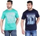 Shineway Printed Men's Round Neck Multic...
