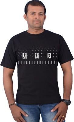 Zorba Mart Printed Men's Round Neck Black T-Shirt