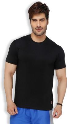Live In Solid Men's Round Neck Black T-Shirt